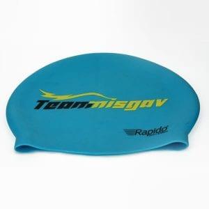 כובע מעוצב לשחייה לים ולבריכה רפידו כחול