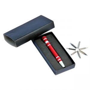 עט מברג עם ברגים מתחלפים