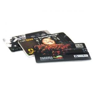 דיסק און קי ממותג דמוי כרטיס אשראי