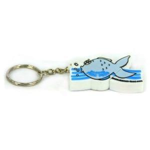 דיסק און קי מעוצב בצורת דג עם אפשרות למיתוג