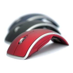 עכבר מחשב מעוגל בצבעים