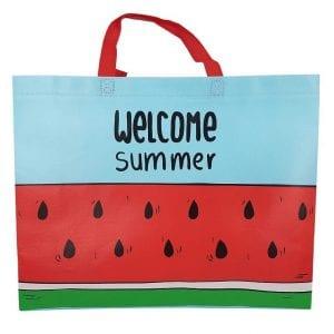תיק חוף לים אבטיח Hello Summer